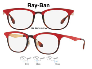 Ray-Ban RB7112 5730 Red/Tortoise Eyeglass Frames Size 51mm 100% Authentic & New