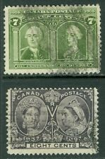 CANADA : 1897-1905. Scott #56, 100 Used. Both Sound. Catalog $165.00.