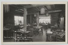 Old  Dining Room Interior Sherwood Lodge Yachats Oregon Real Photo RPPC Dotson
