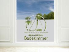 Sichtschutz Folie Badezimmer Maritim Badfenster Fensterfolie Milchglasfolie