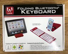 D24 iWerkz Red Folding Wireless Bluetooth Keyboard 44652RD TESTED