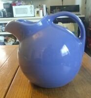 Light Blue Ball Pitcher w/ice lip and Rings Around the Bottom