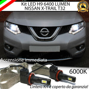 KIT FULL LED ABBAGLIANTI PER NISSAN X-TRAIL T32 LAMPADE LED H9 6000K NO ERROR