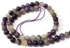 Purple Fluorite Smooth Round Balls Beads 8x8mm-15 Inch Strand 48 Piece