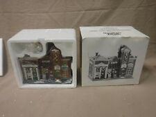 "Department 56 ""Riverside Row Shops"" Christmas in the City. New with box 1997"