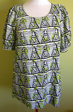 Ladies Womens Short Sleeve Tunic Top Shift Dress Blouse Ice Fashion Size XL