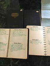 4 journals from doctor in Ethel, Ms (1948-1953) Dr W. W. Bryde