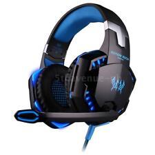 EACH G2000 Stereo Bass PC Spiele Gaming Kopfhörer Headset mit Mic LED-Licht Q1G3