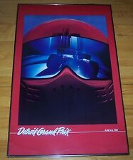 vintage 1982 Detroit Grand Prix Formula One F1 race framed and matted with glass