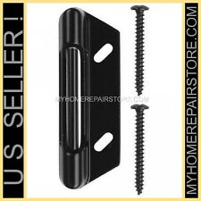 FREE S&H! BLACK SPRING LOADED STRIKE CATCH FOR STORM & SCREEN DOOR LATCH HANDLE
