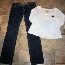 Hollister top & Jean outfit sz 3 Look:)