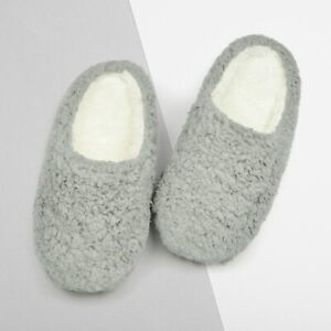 Womens Ladies Luxury Memory Foam Plush Lined Mule Slippers with Non Slip Sole