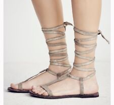 FRE PEOPLE DAHLIA GLADIATOR LACE UP SANDALS SUNKISSED