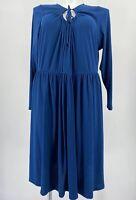 Modcloth To Your Liking Knit Dress Long Sleeve Ribbed Stretch Keyhole Teal Sz 4X