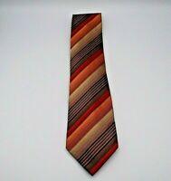 "Kenneth Cole Reaction  Men's Neck Tie Multicolor Stripe Pattern Silk 58"" x 3.75"""