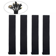 4x Cable Management Organizer Sleeves Neoprene Cable Cord Wire Hider Cover Tool