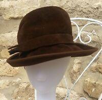 Chapeau femme marron