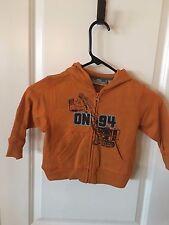 NWT Boy's OLD NAVY Orange Sweatshirt Hoodie Jacket, Long Sleeve, 18 24 Months