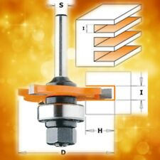 """CMT 15/64"""" Slot Cutter Router Bit with Arbor & Bearing, 1/4"""" Shank 822.360.11A"""