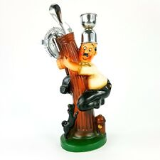 "Vintage Bar Tool 4pc Set 11"" Figure Man Running Up Post From Dog Ceramic Japan"
