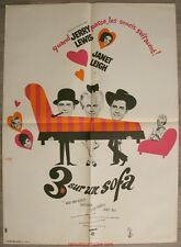 TROIS SUR UN SOFA Three on a couch Affiche Cinéma / Movie Poster Jerry Lewis