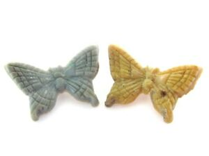 Vintage Antique BAKELITE Butterfly Button Set Lot Realistic Novelty Goofie Blue