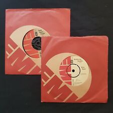 """KATE BUSH Collection WUTHERING HEIGHTS/HEAVY PEOPLE EMI 2 x 7"""" 45 VINYL"""