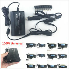 100W Universal 8 Tips LCD Car Home Laptop Notebook Charger Power Supply Adapter
