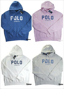 POLO RALPH LAUREN Men's Montauk Cotton-Blend Logo Fleece Pullover Hoodie