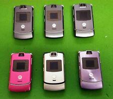 Motorola Razr V3 Flip Phone Lot Razor T-Mobile Sprint Verizon Parts Or Repair