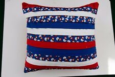 Handcrafted 100% Cotton Pillow - Christmas,Snowflakes And Snowmen #5695