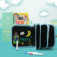 Child Kids Colorful Writing Board Art Graffiti Books Drawing Doodle Erasable Pen