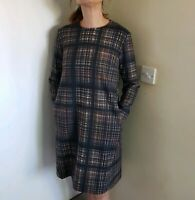 Cos checked Oversized Dress In Uk Size 10. Good Condition. Has Pockets