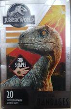 Jurassic World Jw Kids Antibacterial Bandages Fun Dinosaurs Shapes 20 Bandages