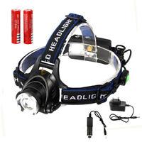 5000LM XM-L T6 LED USB Zoom Focus Linterna Cabeza Luz Frontal LÁMPARA 2x 18650