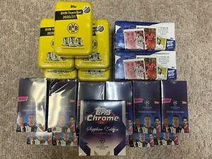 2019-2020 Topps UEFA Champions League Sticker Box - 50 Packs - 250 Stickers