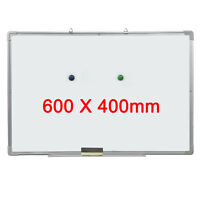 White Board Magnetic Dry Wipe 600mm by 400mm Free Eraser Notice Whiteboard