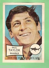 1970 SCANLENS MINI POSTER - PAUL TAYLOR, CRONULLA SHARKS