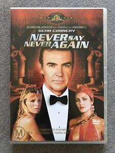 DVD - NEVER SAY NEVER AGAIN - Region 4 PAL  James Bond (Sean Connery) RARE OOP
