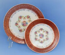 VINTAGE SEBRING POTTERY USA TRIUMPH ROYAL FORTUNE SET OF 2 PLATES