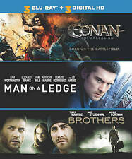 Conan the Barbarian/Man on a Ledge/Brothers (Blu-ray Disc, 2014)