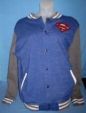 NEW DC Comics Superman Varsity Letterman Jacket Mens 2XL!