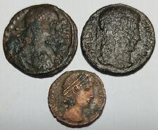 Ancient Roman Empire Coin x3 Constantius II & Constantine I 320AD