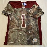 Florida State Seminoles Football Jersey Realtree Camo Men's Size Large Made USA