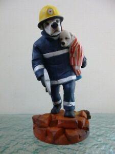 Robert Harrop Doggie People Dalmatians CC114 Where's Teddy? Fireman Rescue