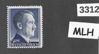 #3312   Nice MLH 5RM Adolph Hitler stamp Third Reich Germany / 1942-1944 / Sc527