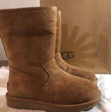 UGG Australia Pierce Suede CHESTNUT Size 6 1006031 Sheepskin Boots Woman's