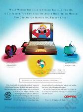 Compaq Presario 1000 print ad 1997 Multimedia Notebook