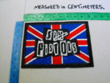 """Embroidered Sew-Iron Badge/Patch PUNK MUSIC LEGENDS """" On the Union Jack"""""""