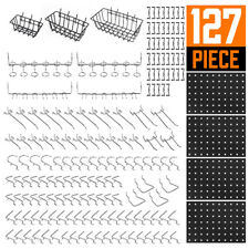 Pegboard Hooks Assortment Basket Pegboard Pack Pinboard Rack Organizing Tool 127
